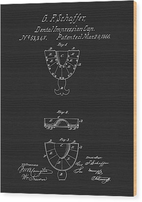 Dental Mold Patent Wood Print by Dan Sproul