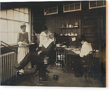Dental Work In A Hospital, Cambridge Wood Print by Everett
