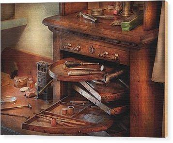 Dentist - Lab - Dental Laboratory  Wood Print by Mike Savad