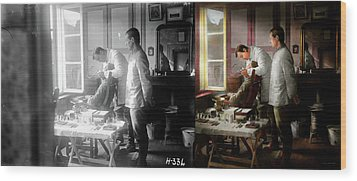 Wood Print featuring the photograph Dentist - The Horrors Of War 1917 - Side By Side by Mike Savad