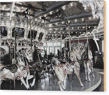 Dentzel Menagerie Carousel - Glen Echo Park Maryland Wood Print