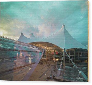 Denver International Airport Wood Print
