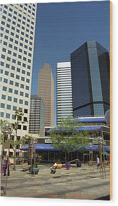 Wood Print featuring the photograph Denver Architecture by Frank Romeo