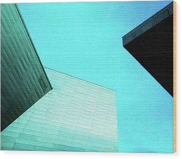 Wood Print featuring the photograph Denver Art Museum Hamilton by Marilyn Hunt