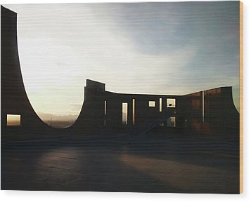 Wood Print featuring the photograph Denver Art Museum Ponti Deck by Marilyn Hunt