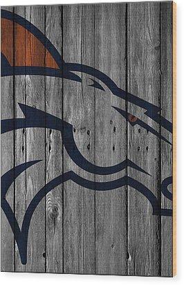 Denver Broncos Wood Fence Wood Print by Joe Hamilton