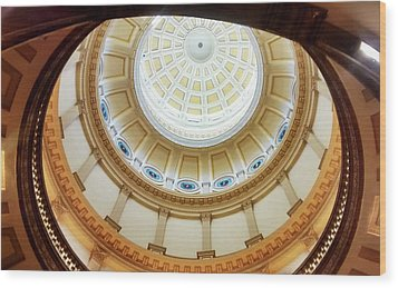 Wood Print featuring the photograph Denver Capitol Dome 1 by Marilyn Hunt