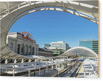Denver Co Union Station Wood Print
