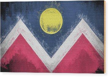 Wood Print featuring the digital art Denver Colorado City Flag by JC Findley
