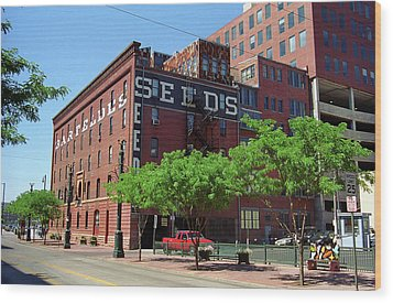 Wood Print featuring the photograph Denver Downtown Warehouse by Frank Romeo