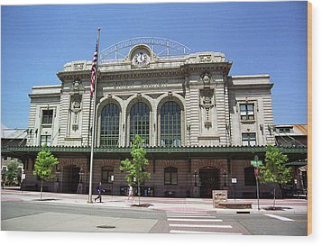 Wood Print featuring the photograph Denver - Union Station Film by Frank Romeo