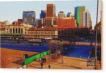 Denverscape II Wood Print