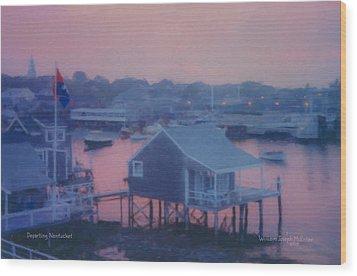 Departing Nantucket Wood Print