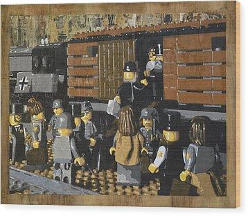 Deportation From Warsaw To Treblinka July 22 1942 Wood Print by Josh Bernstein