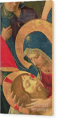 Deposition From The Cross Wood Print by Fra Angelico