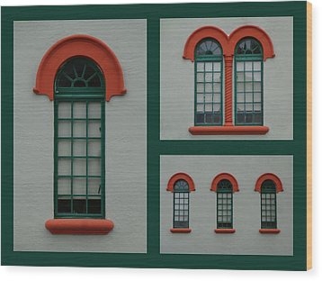 Depot Windows Collage One Wood Print