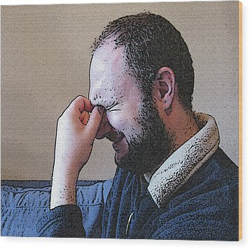 Depression Wood Print by Darren Stein