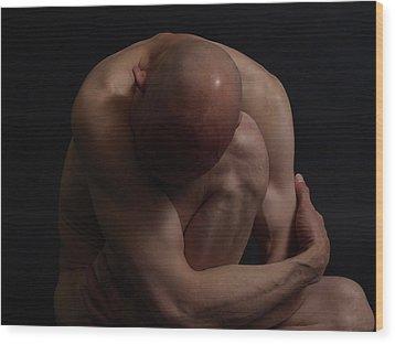 Depression Hits Wood Print by Robert Gebbie