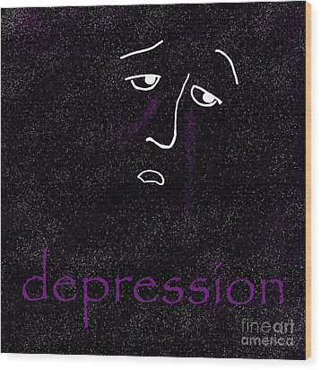 Depression Wood Print by Methune Hively