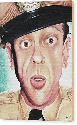 Deputy Of Mayberry Wood Print by Marvin  Luna