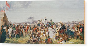 Derby Day Wood Print by William Powell Frith