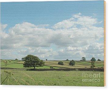 Derbyshire Landscape Wood Print