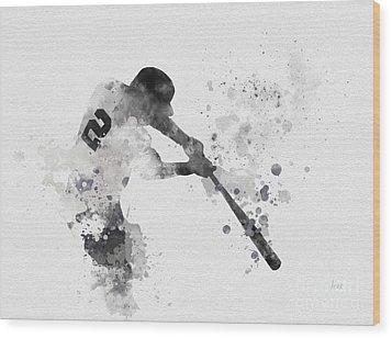 Derek Jeter Wood Print