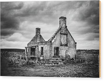 Derelict Croft Wood Print