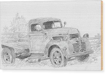 Derelict Dodge Wood Print