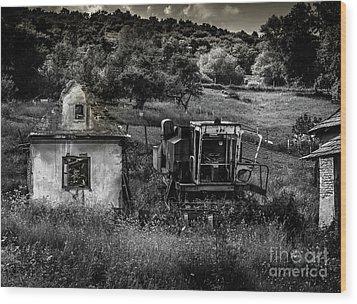 Derelict Farm, Transylvania Wood Print