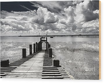Derelict Wharf Wood Print by Avalon Fine Art Photography