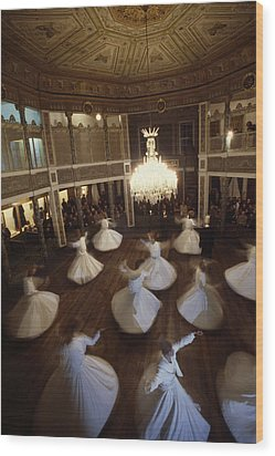 Dervishes Perform A Ritual Dance Wood Print by James L. Stanfield