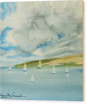 Dark Clouds Threaten Derwent River Sailing Fleet Wood Print