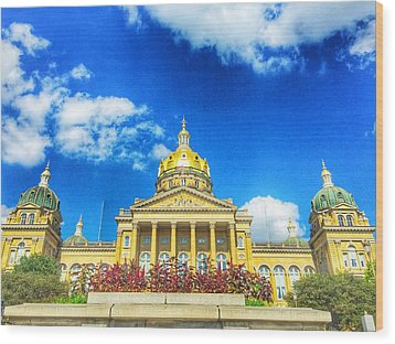 Wood Print featuring the photograph Des Moines-capital City by Jame Hayes
