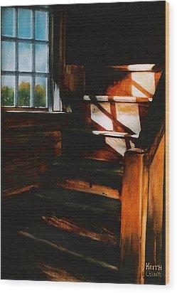 Descending Light Wood Print