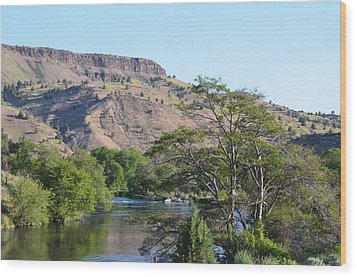 Deschutes River At Trout Creek Wood Print