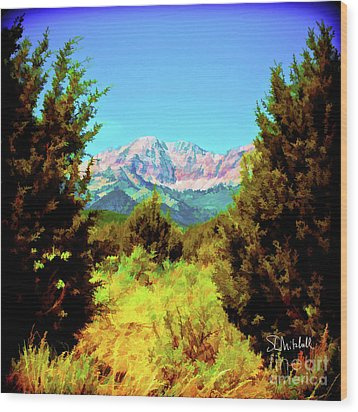 Deseret Peak Wood Print