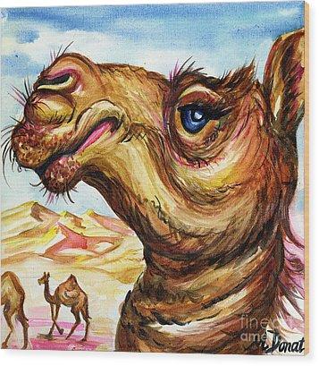 Desert Aristocrat Wood Print by Margaret Donat
