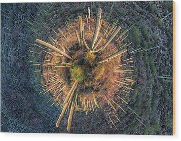 Desert Big Bang Wood Print