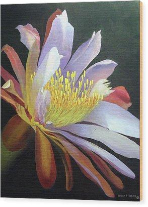 Desert Cactus Flower Wood Print