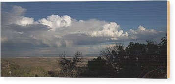 Wood Print featuring the photograph Desert Clouds by Farol Tomson
