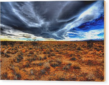 Desert Clouds Wood Print by Tom Melo