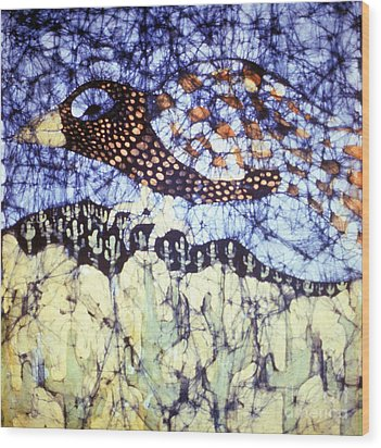 Desert Crow Wood Print by Carol Law Conklin