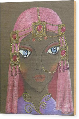 Desert Diva -- Whimsical Arabic Woman Wood Print