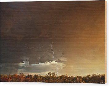 Wood Print featuring the photograph Desert Fire by James Menzies