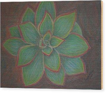 Desert Flower Wood Print by Dawn Marie Black