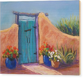 Desert Gate Wood Print by Candy Mayer
