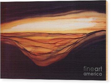 Desert Glow Wood Print by Addie Hocynec