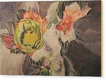 Desert Grace Wood Print by Teresa Beyer
