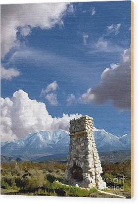 Desert Host Impressions Wood Print by Glenn McCarthy Art and Photography